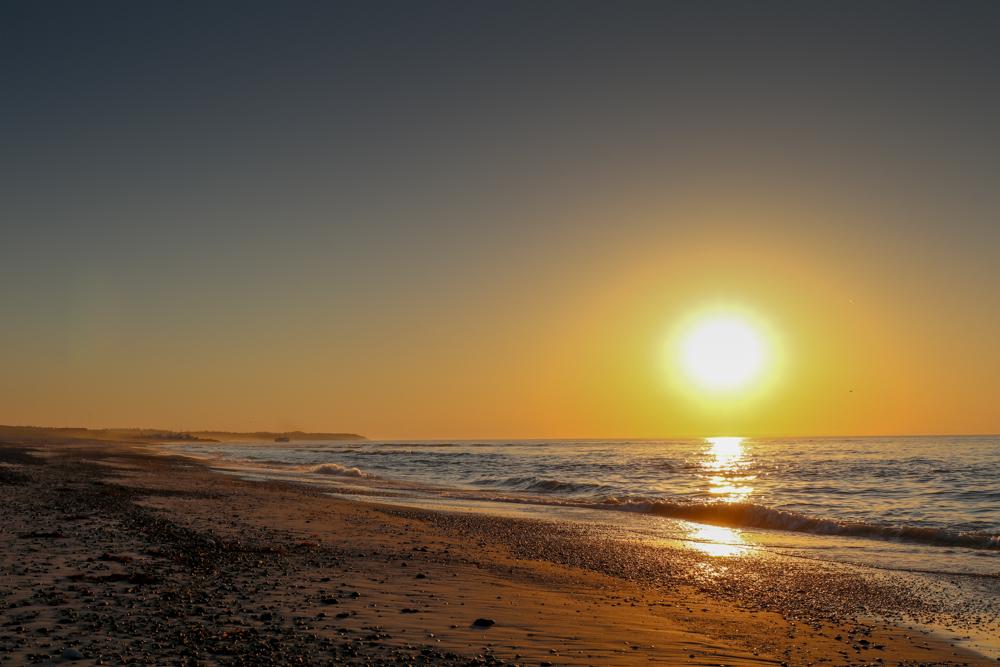 Besonders schön sind die Sonnenuntergänge an der Nordsee - Hier in Thorup Strand.