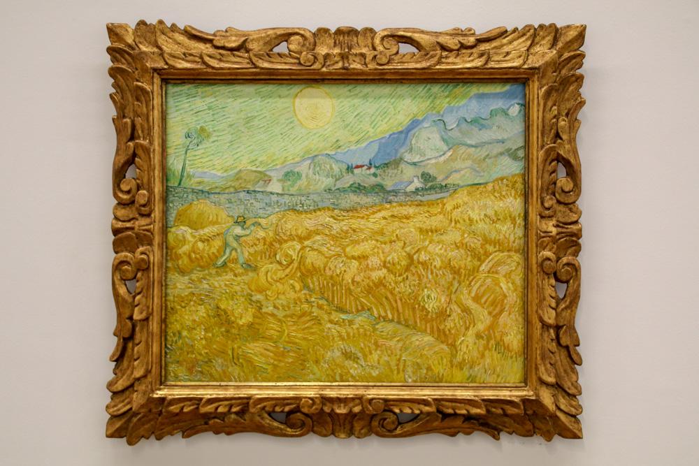 """""""Die Ernte, Kornfeld mit Schnitter"""" von Vincent van Gogh"""