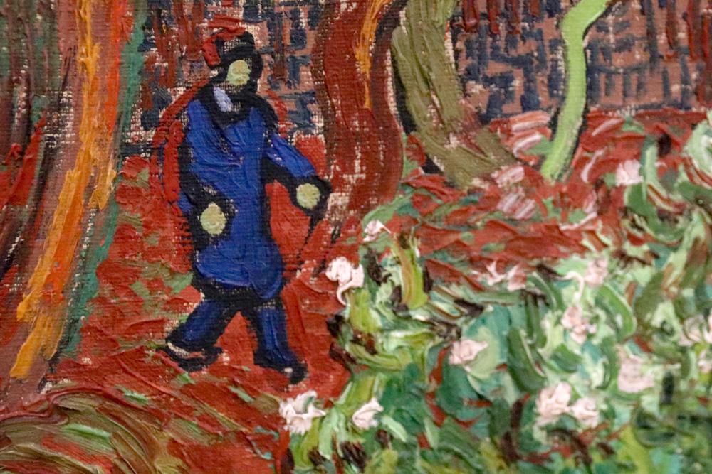 Wer ganz nah an die Gemälde Van Goghs herantritt, erkennt die fast reliefartige Oberfläche