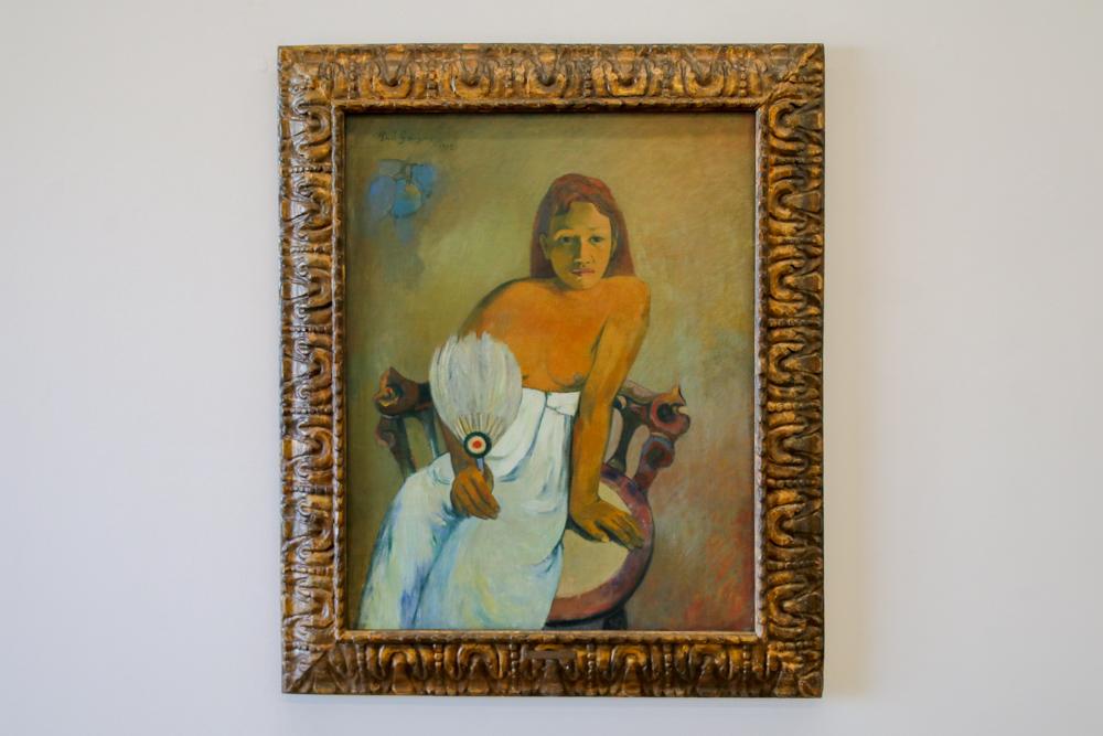 """""""Mädchen mit Fächer"""" von Paul Gauguin"""