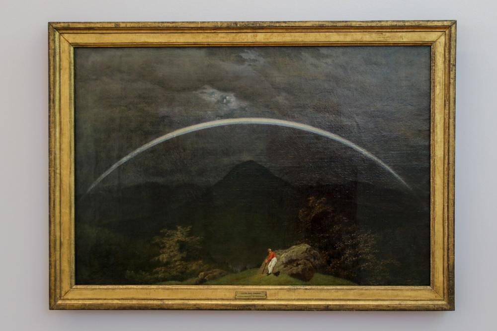 "Caspar David Friedrich, ""Gebirgslandschaft mit Regenbogen"""