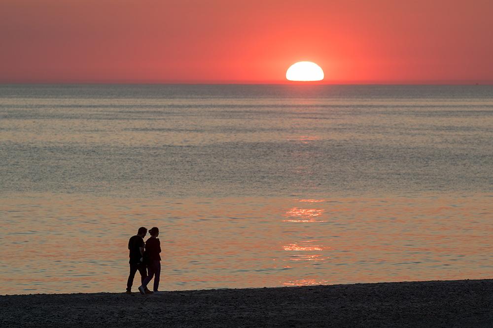 Sonnenuntergang am Strand von Vejlby Klit