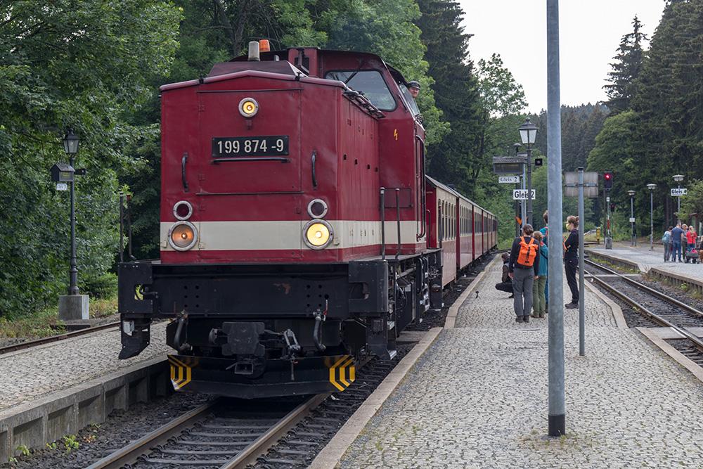 Diesellok der Brockenbahn im Harz
