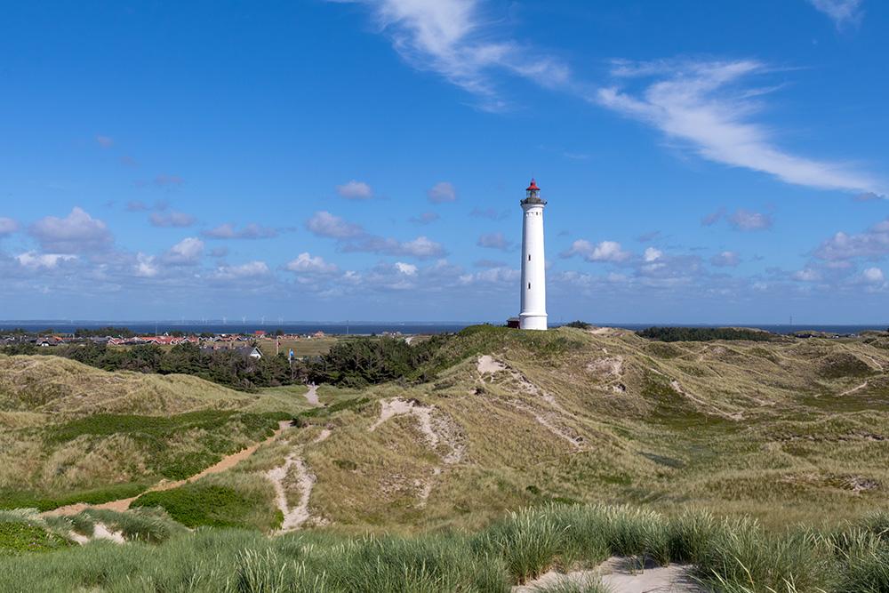 Der Leuchtturm Lyngvig gehört zu den schönsten Leuchttürmen in Dänemark