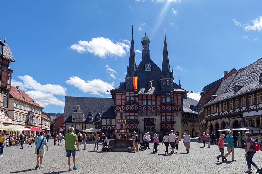 Das Rathaus von Wernigerode im Harz