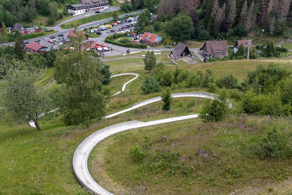 Die Sommerrodelbahn von Sankt Andreasberg im Harz