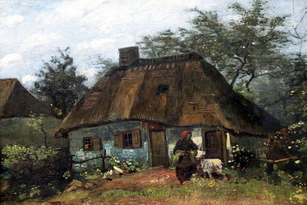 """Das """"Bauernhaus in Nuenen"""" von Vincent van Gogh im Städel Museum Frankfurt"""
