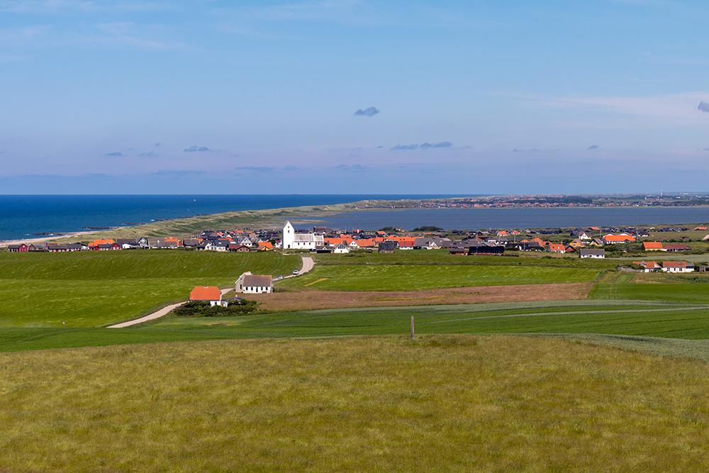 Die Aussicht vom Leuchtturm Bovbjerg Fyr in Richtung Vejlby Klit
