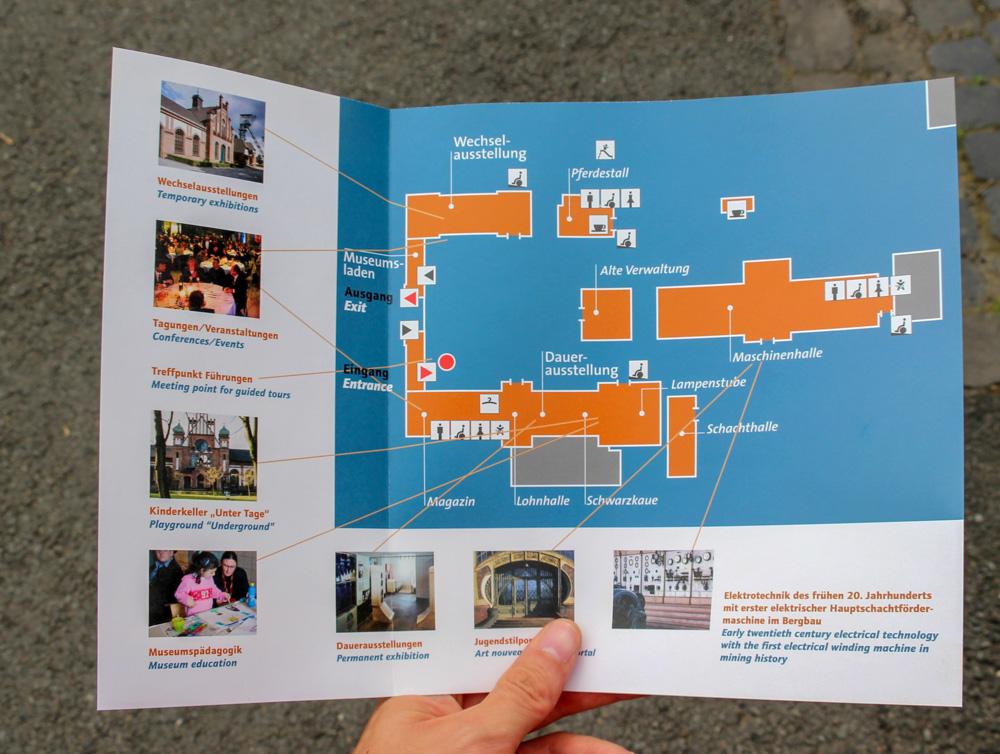 Plan der Zeche Zollern in Dortmund