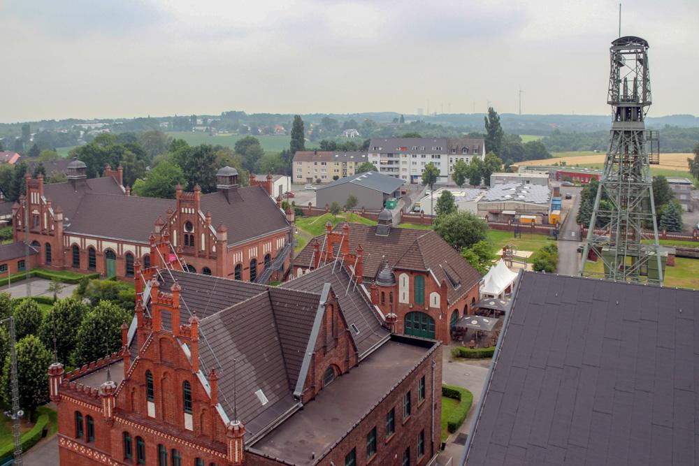 Zeche Zollern in Dortmund im Ruhrgebiet Blick vom Fördergerüst