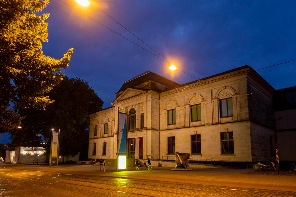Kunsthalle Bremen bei Nacht