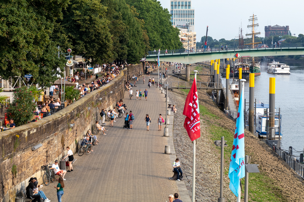 Schlachte Bremen Weserpromenade
