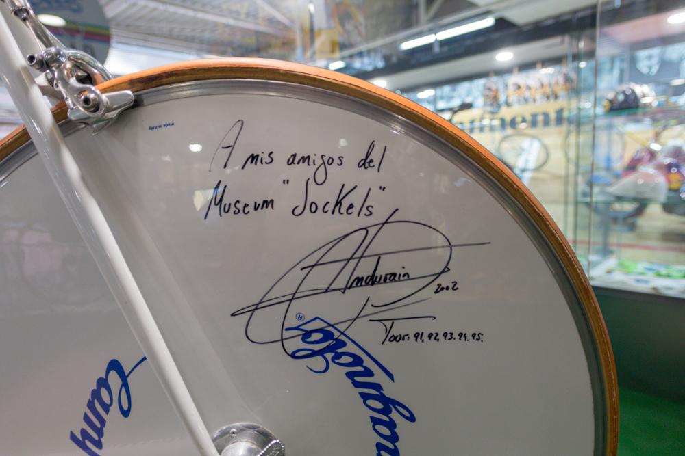 Rennrad von Miguel Indurain im Technik Museum Sinsheim