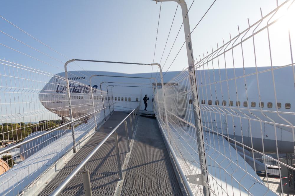 Flügel des Lufthansa Jumbos Boeing 747 im Technik Museum Speyer