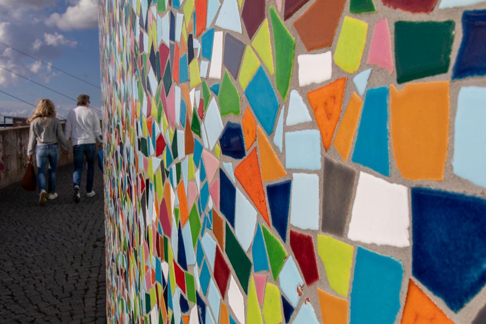 Düsseldorf Rheinpromenade Mosaik