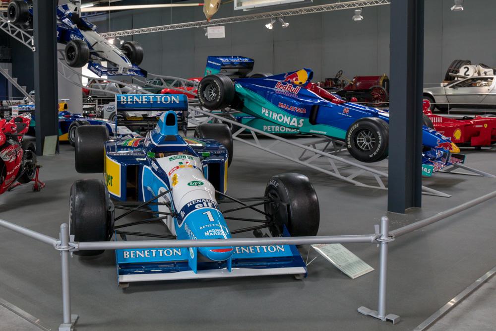 Formel 1 Benetton von Michael Schumacher im Technik Museum Sinsheim