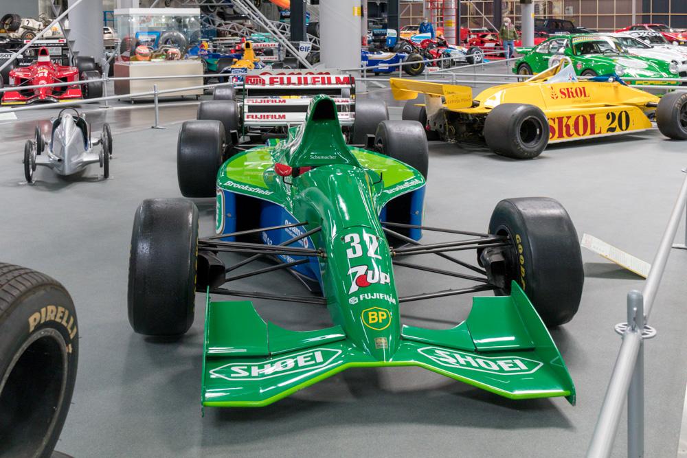 Formel 1 Jordan von Michael Schumacher im Technik Museum Sinsheim