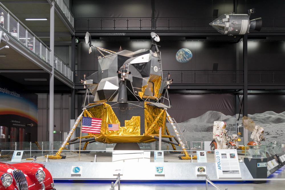 Apollo Mondlandefähre in der Raumfahrt Ausstellung im Technik Museum Speyer