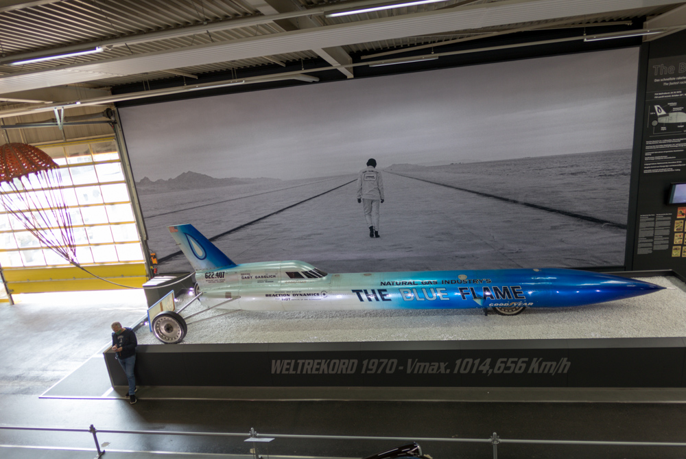 Blue Flame Raketenfahrzeug im Technik Museum Sinsheim