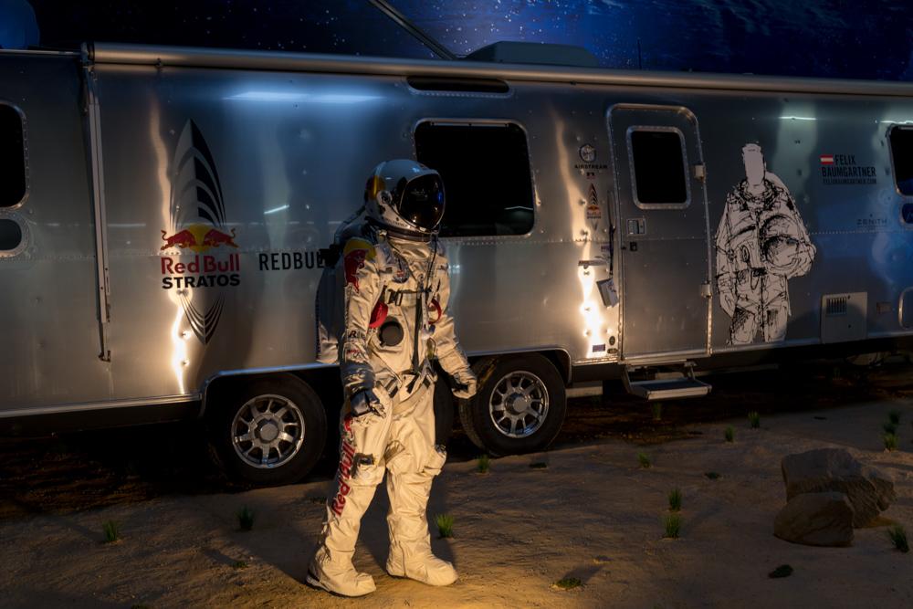 Felix Baumgartner Anzug in der Raumfahrt Ausstellung im Technik Museum Speyer