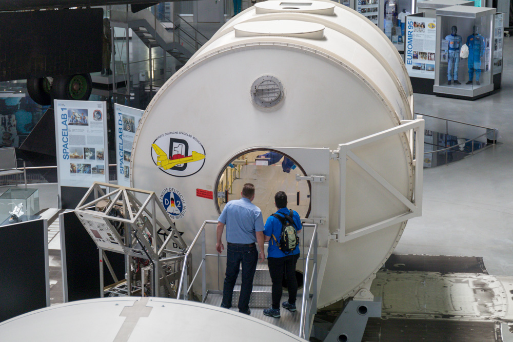 ISS Modul in der Raumfahrt Ausstellung im Technik Museum Speyer