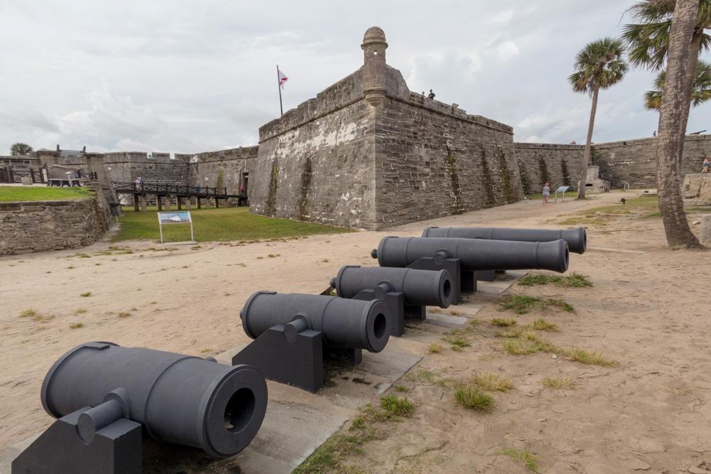 Das Castillo de San Marcos gehört zu den größten Sehenswürdigkeiten in St. Augustine Florida