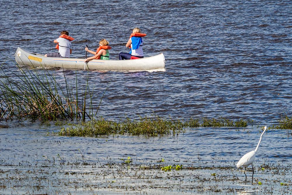 Kanu im Myakka River State Park Florida