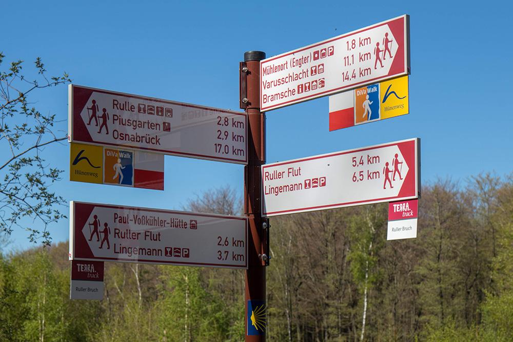 Terra Track Wandern im Osnabrücker Land Wegweiser