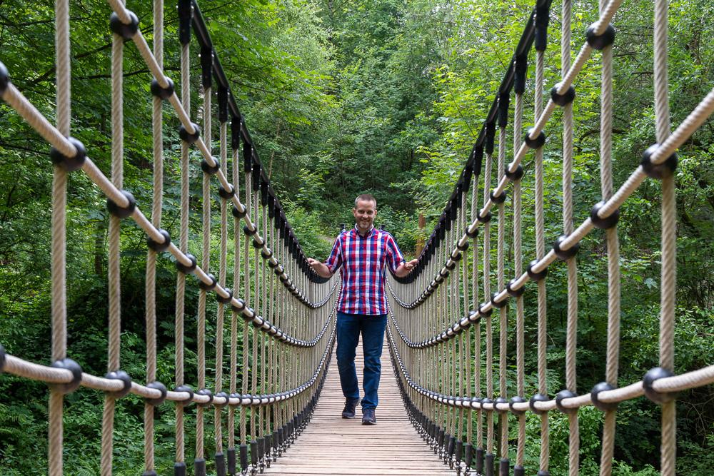 Harzer Wandernadel Stempelstelle WeltWald Bad Grund HWN 129 Hängebrücke