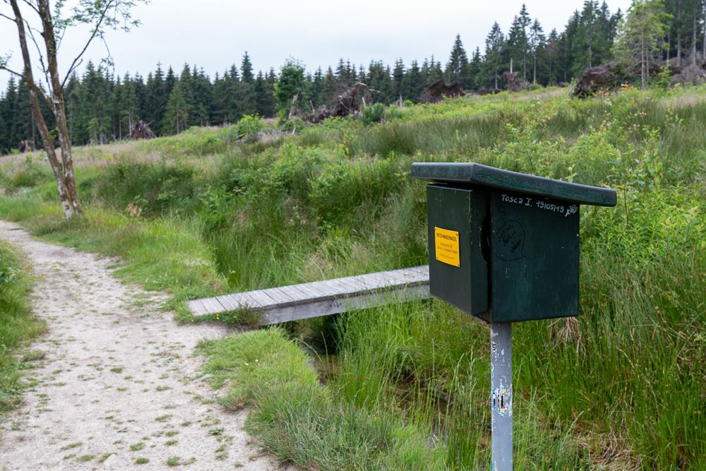 Lochstein, Oberer Schalker Graben – Harzer Wandernadel Stempelstelle HWN 126