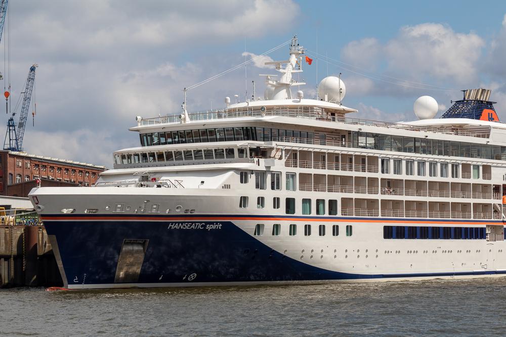 Expeditions-Kreuzfahrtschiff Hanseatic Spirit im Hafen Hamburg