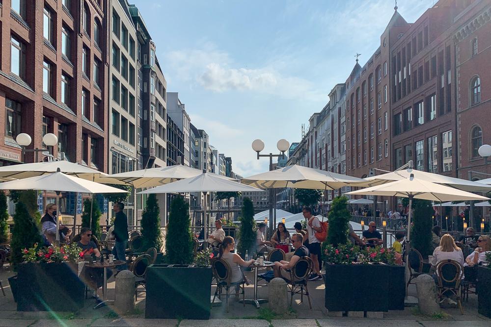 Volle Restaurants in Hamburg am Wochenende