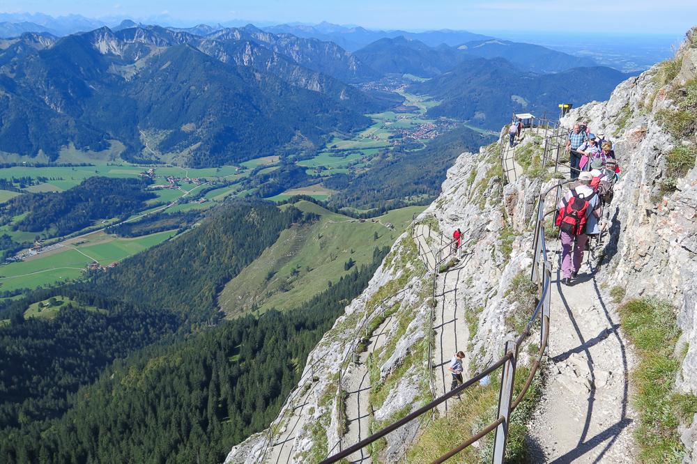 Aufstieg zum Wendelstein Gipfel
